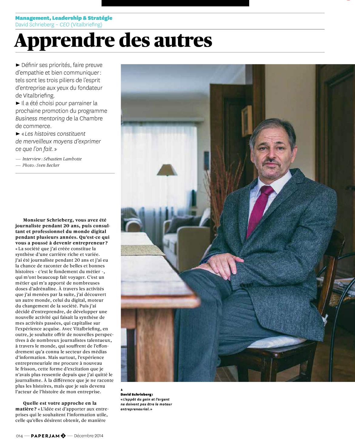 David Schrieberg article