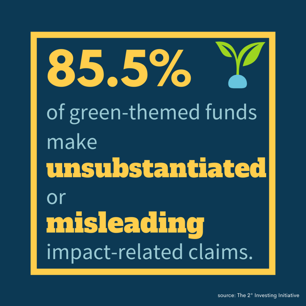 graphic on misleading green-themed funds