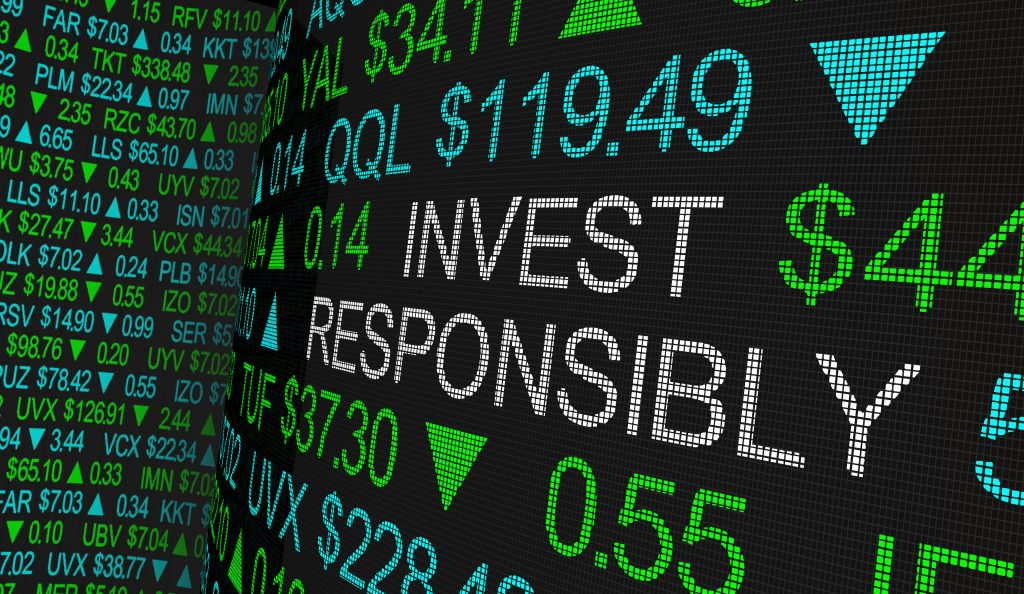 Graphic: invest responsibly. impact investing